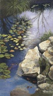 Peggy Brogan Reflecting Pool Painting