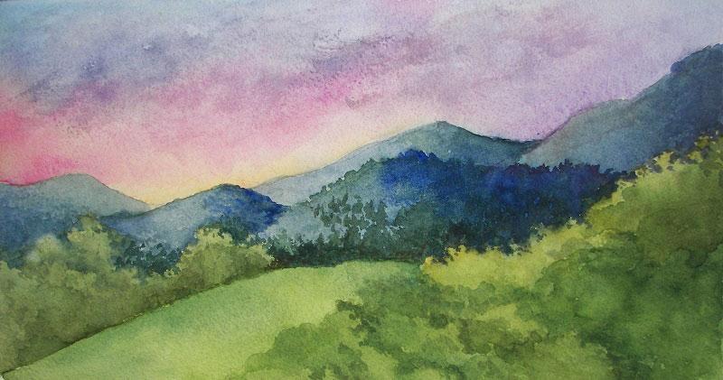 N.Lanoue_Hillside-View-Watercolor