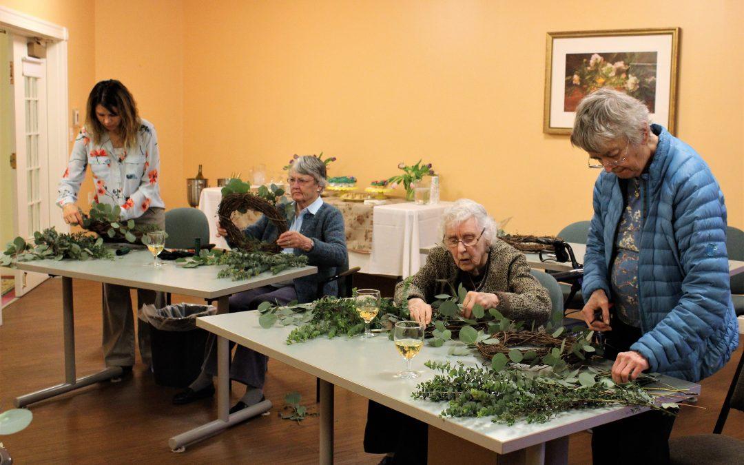 Springtide Wreath Workshop   a Success